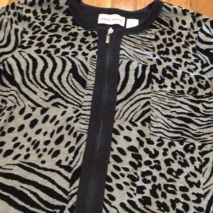 Alfred DUNNER~~Zip Front Jacket Top 🎈